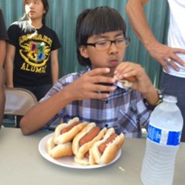 Our lunchtime Hot Dog Eating Contest is a great challenge for our resilient scholars.